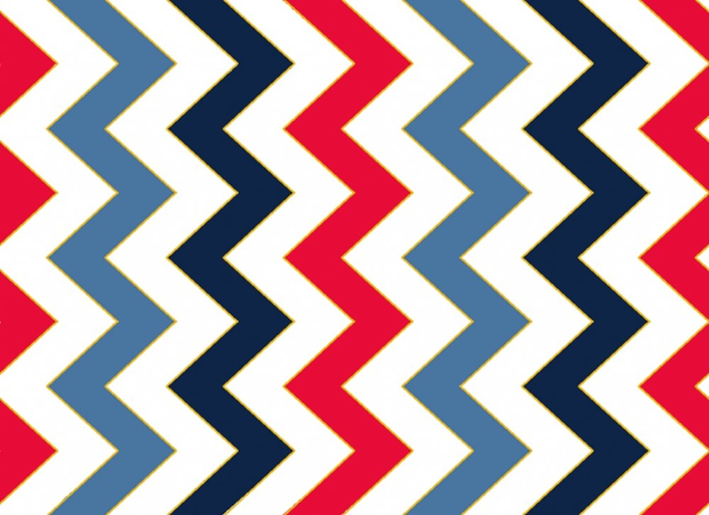 QT - Patriotic Pop-Chevron/White - 22753-Z