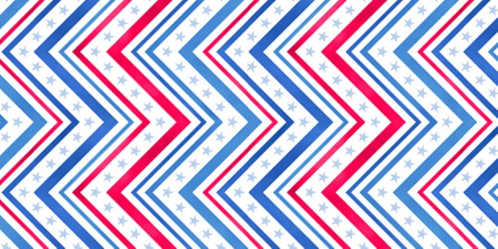QT - A Nation's Song-Chevron/Red/Blue - 23176-RB