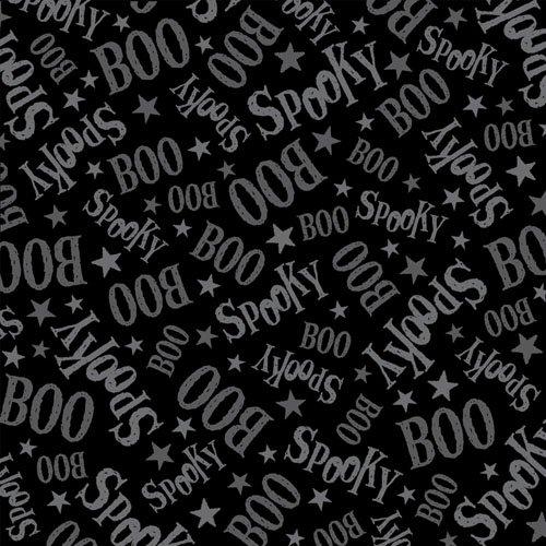 QT - Creepy Cute-Spooky/Boo/BLK - 23950-J