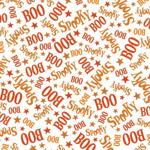 QT - Creepy Cute-Spooky/Boo/Orange - 23950-O