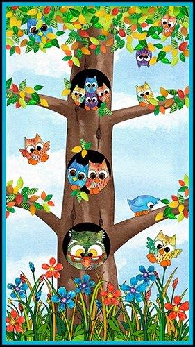 QT - Owl in The Family-Multi Owl Family Panel - 24121-X - J-14