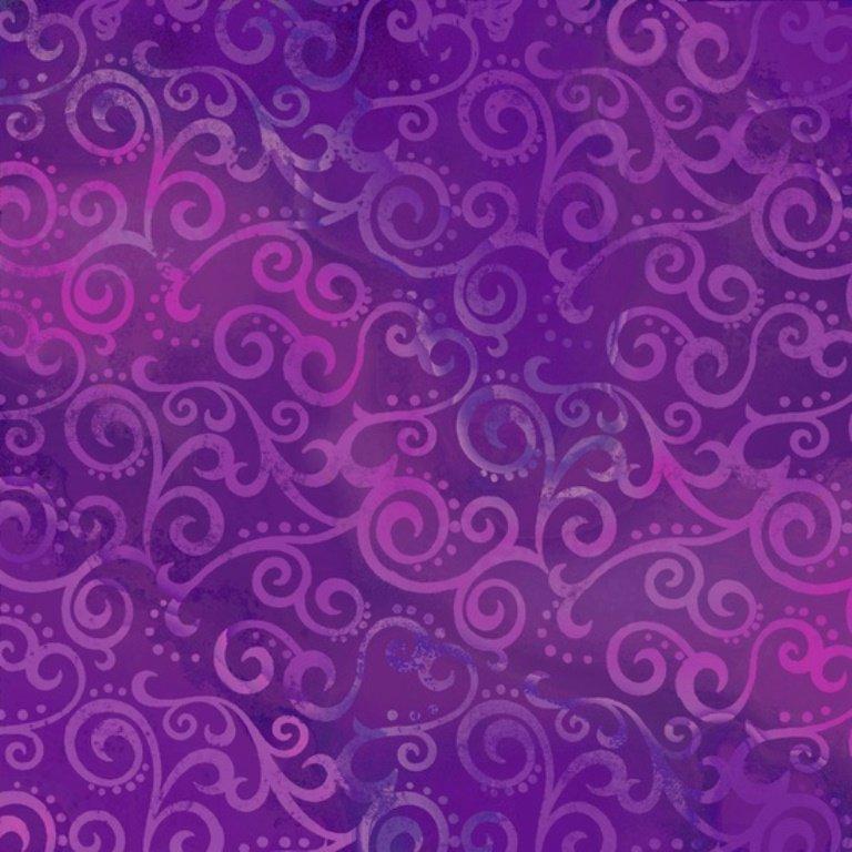 QT - Ombre Scroll - 24174-V Grape