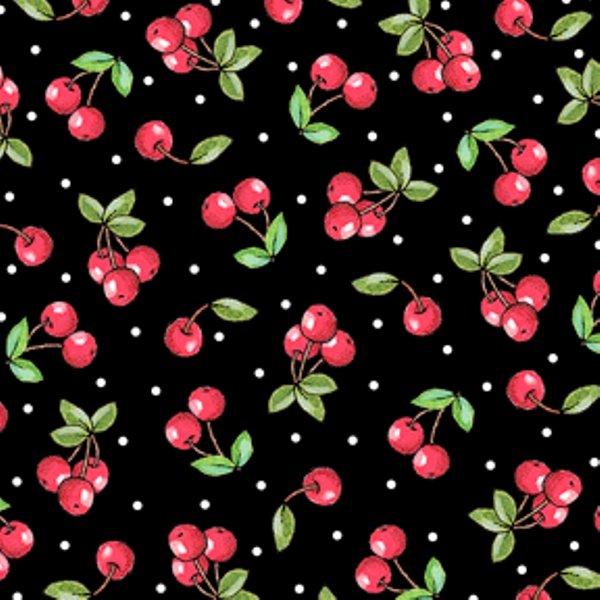 QT - Mottos To Live By-Cherries/Black - 24351-J