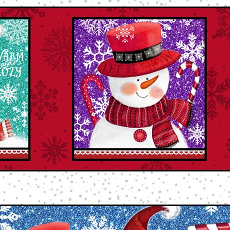 QT - Sweet Season-Snowman Border Stripe - 24504-X