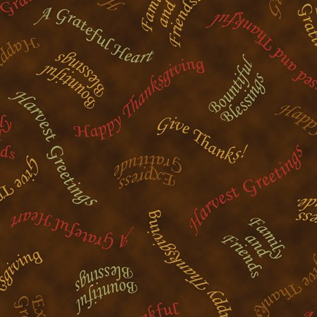 QT - Bountiful Blessings - Tossed Phrases/Brown - 24515-A