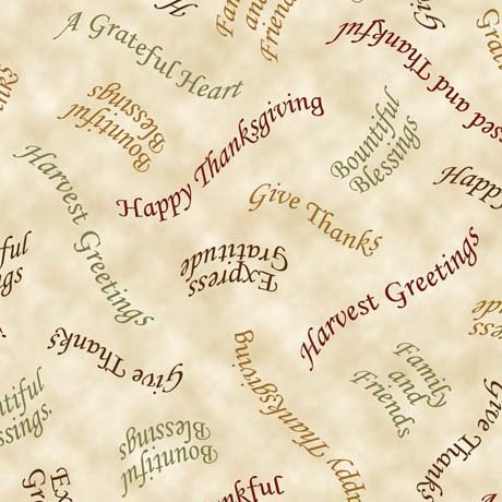 QT - Bountiful Blessings - Tossed Phrases/Cream -24515-E