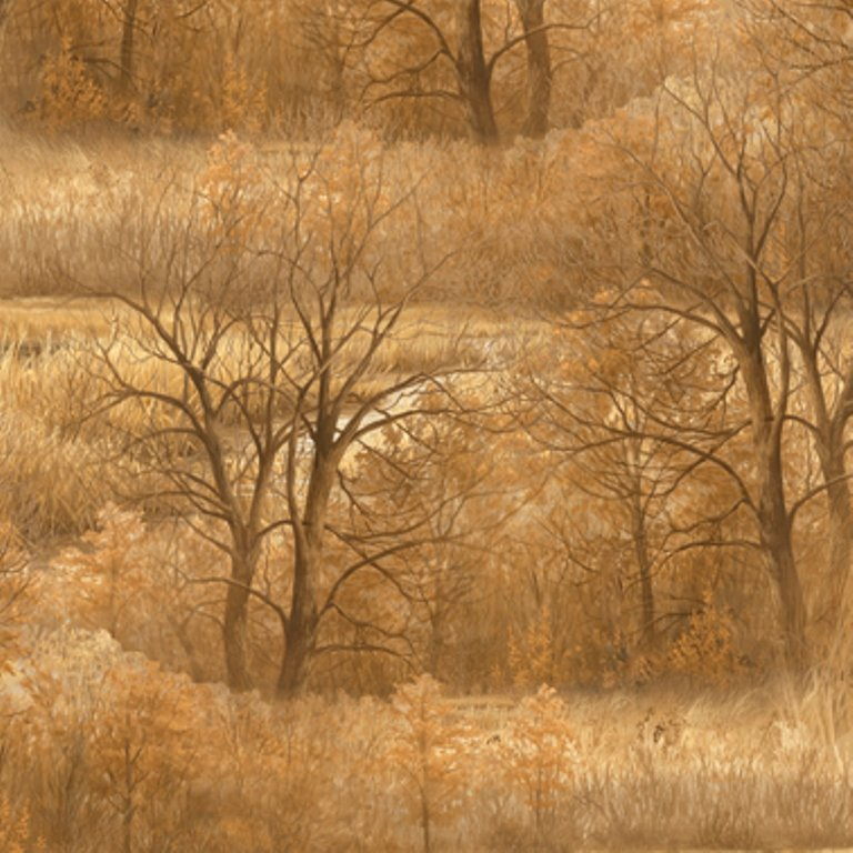 QT - Wild Pheasants-Trees/Tan - 24534-E