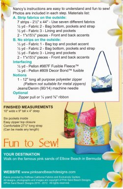 Bermuda bag class fabric requirements