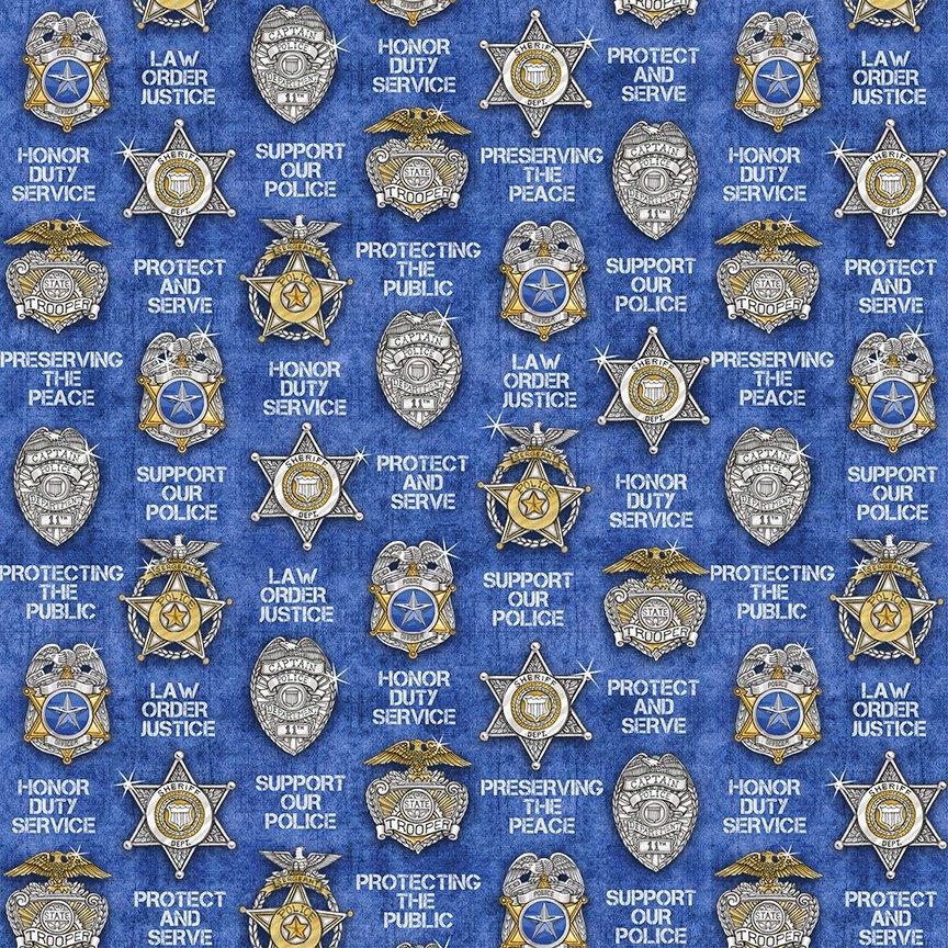 QT - Protect & Serve-Shields/Blue - 26130-B