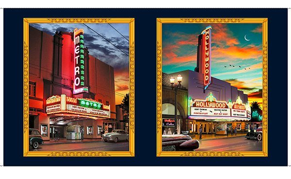 QT - Artworks VIII RETRO MARQUEE PICTURE PANEL - DIGITAL - (N-44)