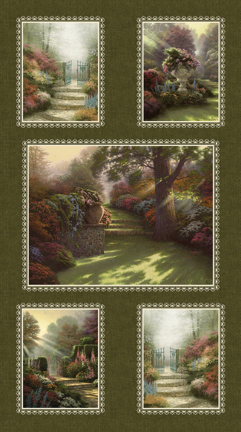 Benartex - Thomas Kinkade-Pathway to Paradise-PANEL - 03032-99 - I-3