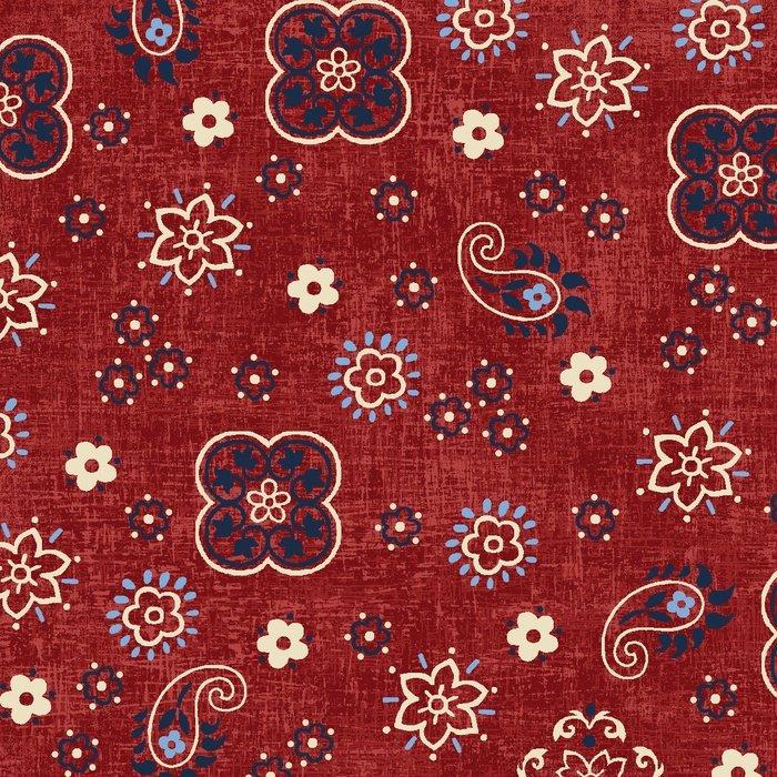 StudioE - American Folk-Paisley/Red - 3214-88