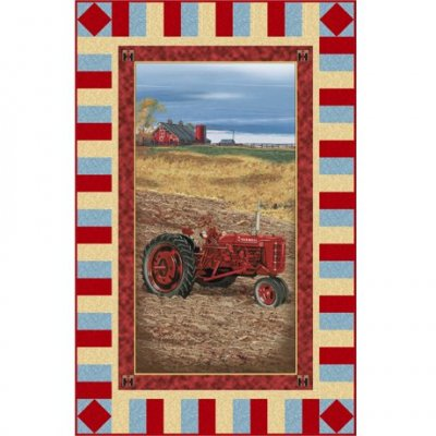 on the farm wall hanging, CASE IH vintage tractor