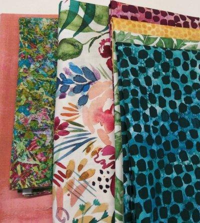 tibet-brightly blooms villa rosa quilt kit
