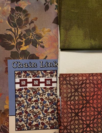 Chain Link Villa Rosa Diaphanous Quilt Kit
