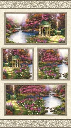 Benartex - Thomas Kinkade-The Garden Prayer-PANEL - 5455-99 - I-9