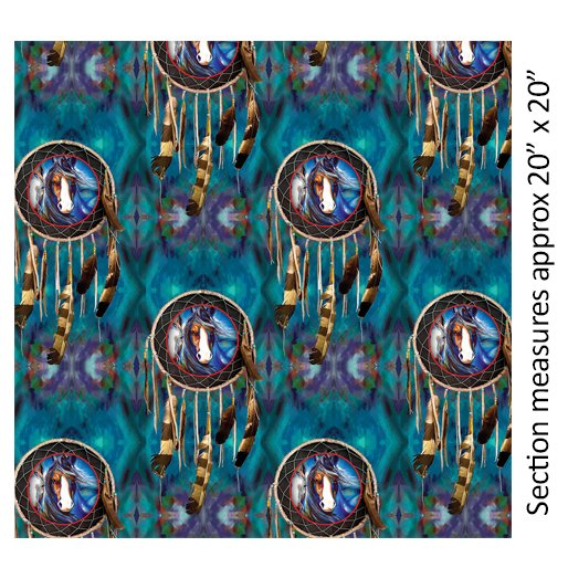 Benartex - Painted Horses-Dreamcatcher/Teal - 06663-84