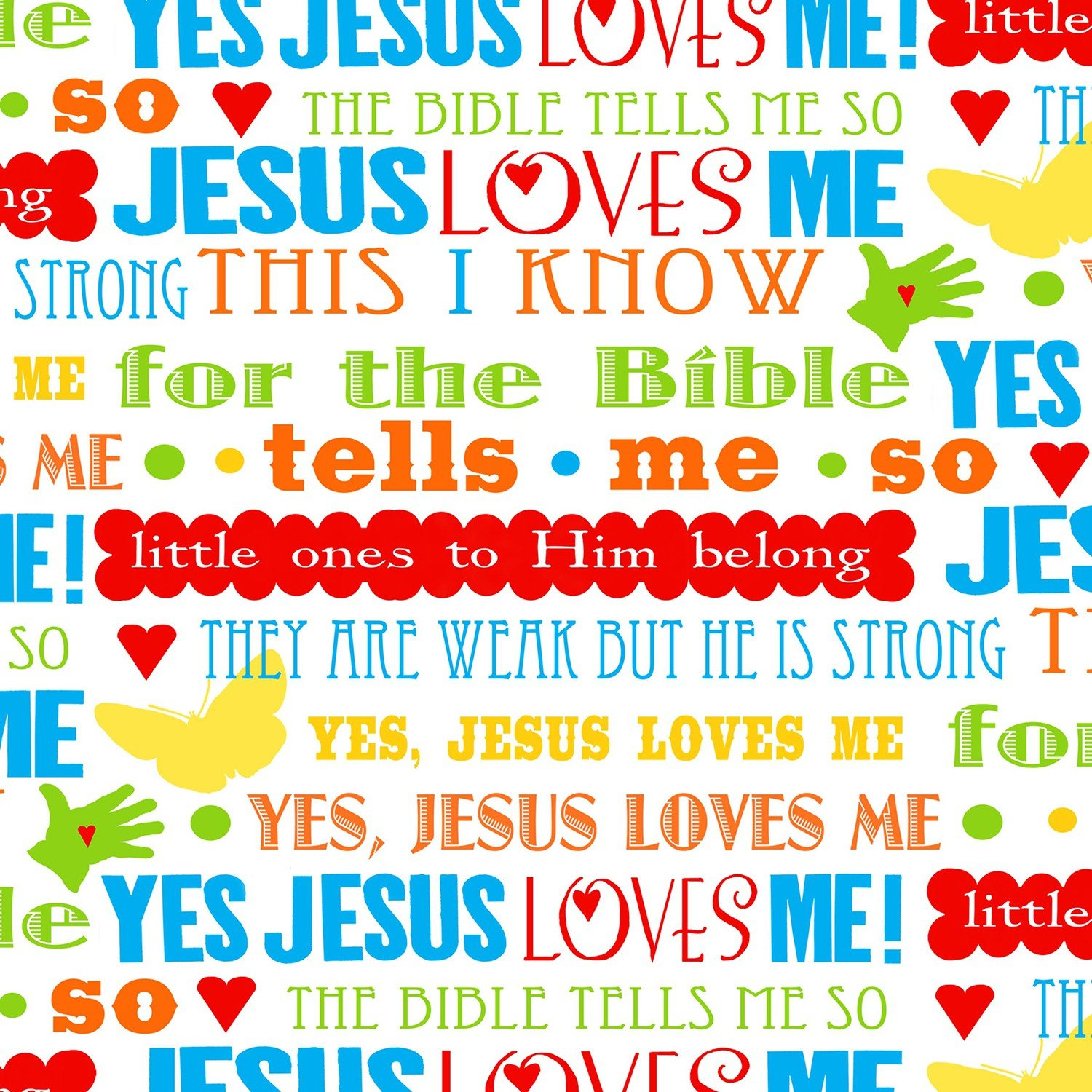 Henry Glass - Jesus Loves Me 2-Inspirational Words-Multi - 6819-18