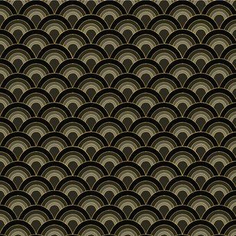 Blank Quilting - Sakura-Fans/Black & Gold - 7154M-99