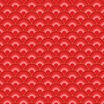 Blank Quilting - Sakura-Fans/Red - 7154M-88