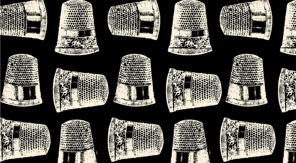 Blank Quilting - Lady Claire-Thimbles/Blk - 7231-99