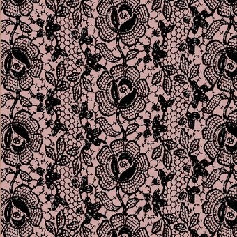 Blank Quilting - Lady Claire-Lace/Black-Pink - 7235-22