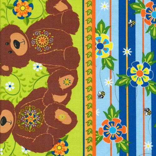Fabri-Quilt - Mystic Forest-Bear Stripe - 112-25991