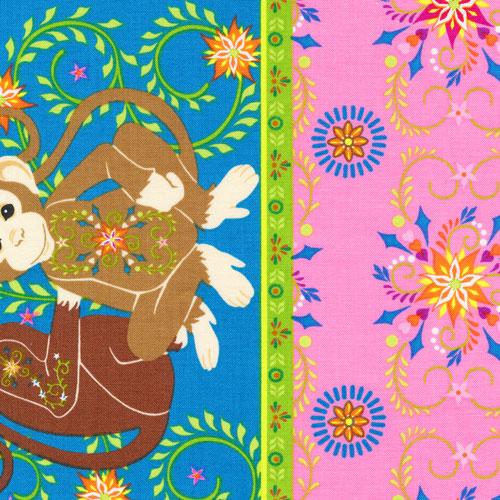 Fabri-Quilt - Mystic Forest-Monkey Stripe - 112-26031