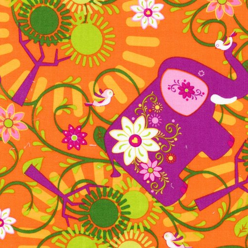 Fabri-Quilt - Mystic Forest FLANNEL-Tossed Elephant - 140-25911