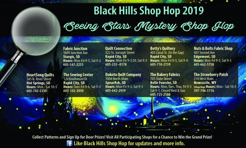 2019 black hills shop hop