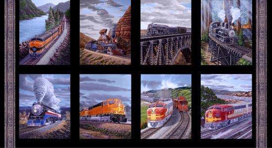 Blank Quilting - Redwood Express-Train Blocks/Panel - 8439-99 - N20