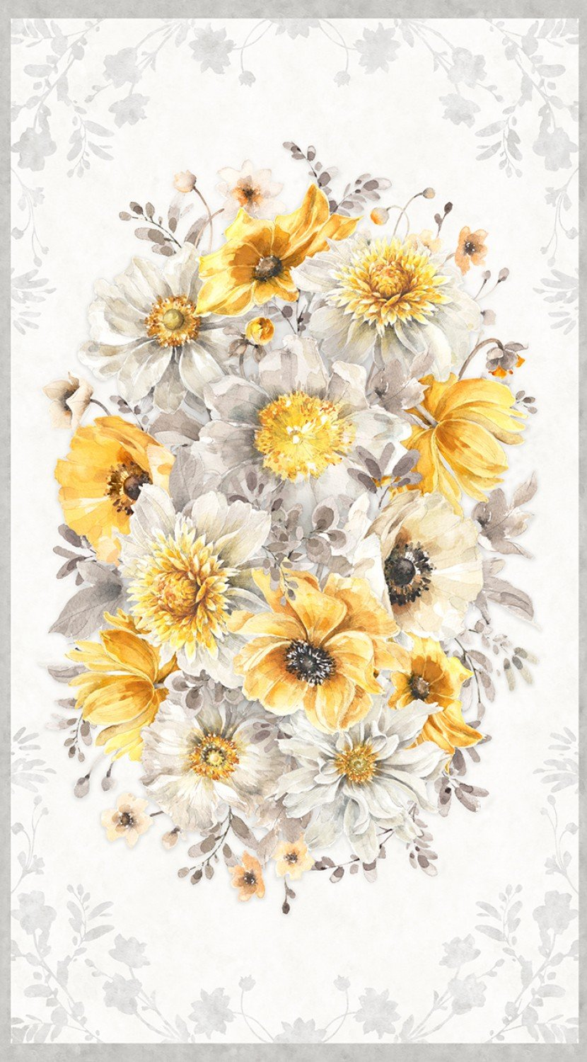 Wilmington - Fields of Gold - Large Floral Panel - N36
