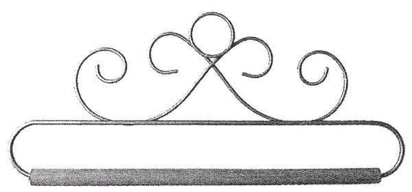 French Curls-6.5''-Gray Fabric Holder-Ackfeld - 88387