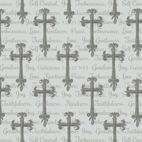 Blank Quilting - Walk By Faith-Crosses Allover - 8891-90