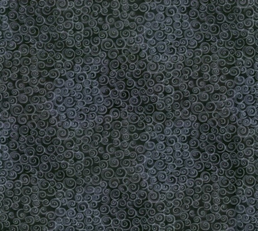 Blank Quilting - Spirals-Metallic/Black - 5221