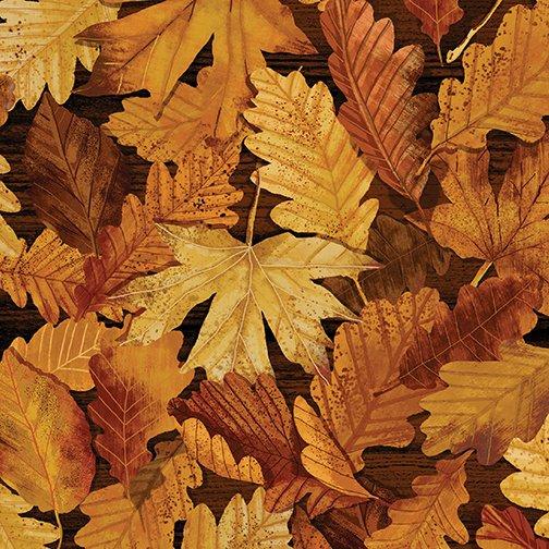 Kanvas - Nature Walk-Forest Foliage Leaves/Russet - 8966-88