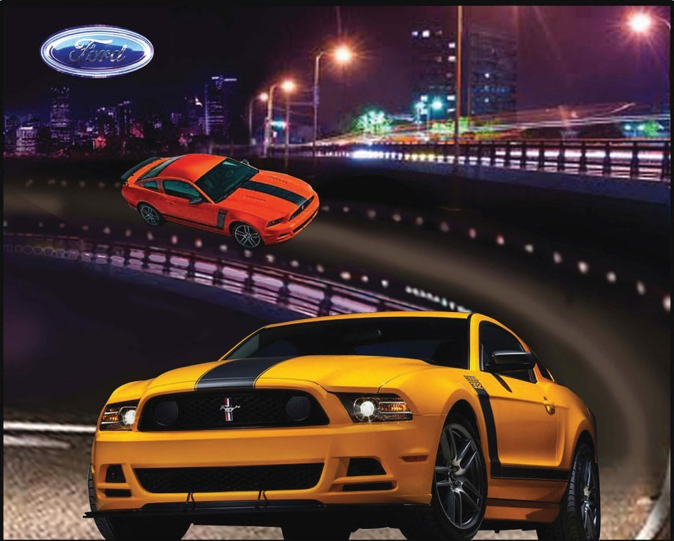 Print Concepts - Ford Mustang Car Panel - 9930 - N-18