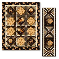 A Golden Holiday Table Runner KIT - SALE - 14.5 x 51.5