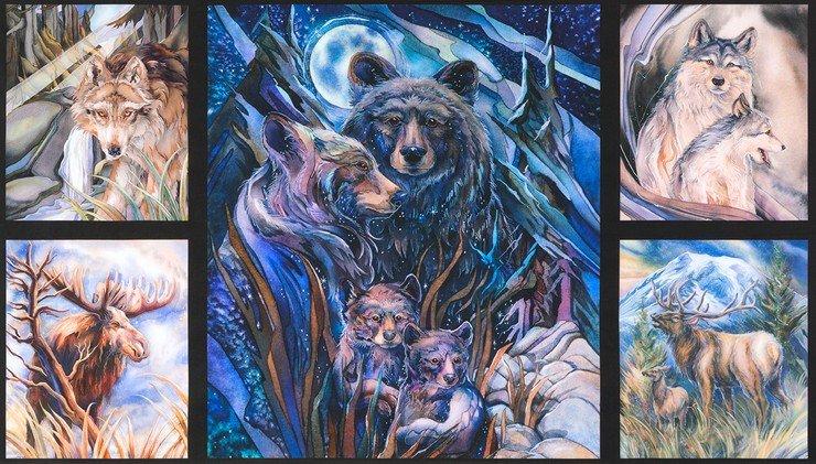 Robert Kaufman - North American Wildlife 4 - 5 Block-Panel/DIGITAL - 17379-268 Nature (W31)