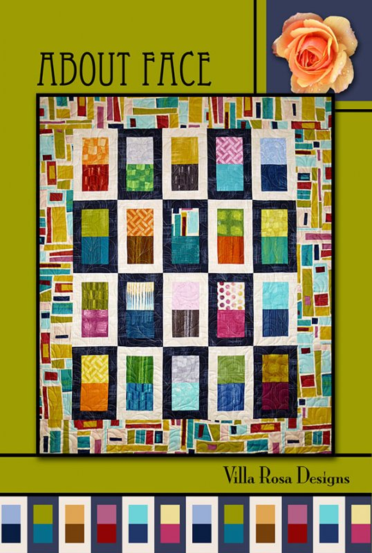 About Face - Villa Rosa - 37x48  - 5 Squares/Yardage.  (50x61/Border)