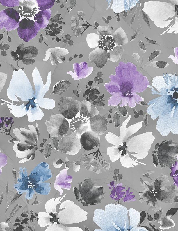 Wilmington - Awakenings-Large Floral Allover/Grey - 13402-996