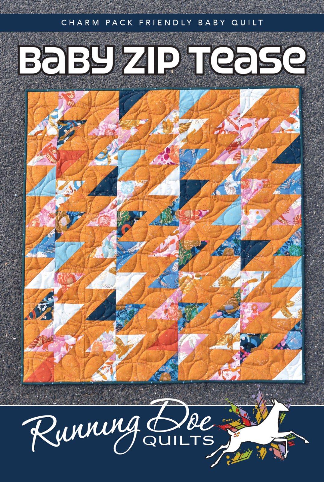 Baby Zip Tease - Villa Rosa - 46 x 61 - Theme/Yardage