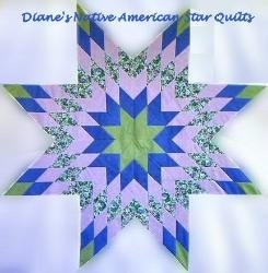 Patterns ~ Diane's Native American Star Quilts : native american star quilt - Adamdwight.com