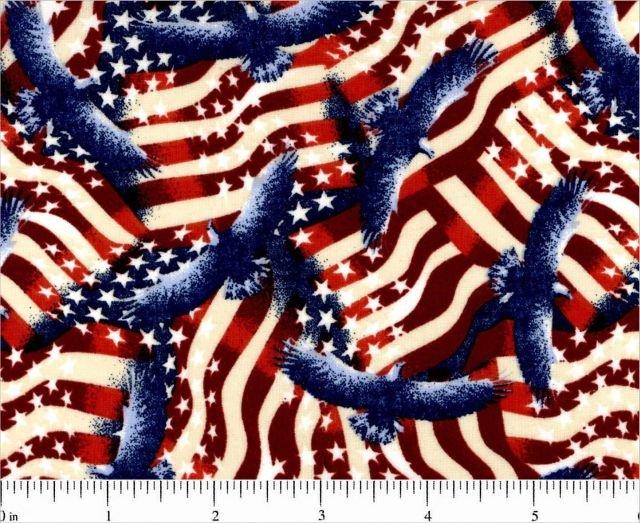 Choice Fabrics - Patriotic Flags - 48118-A03