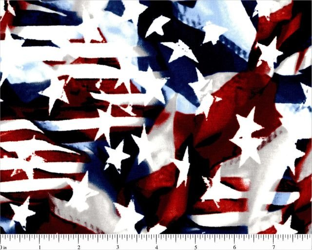 Choice Fabrics - Patriotic Flags/Stars - BD-49024-A03