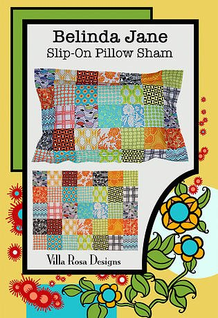 Belinda Jane - Slip On Pillow Sham - Villa Rosa - 5 Squares