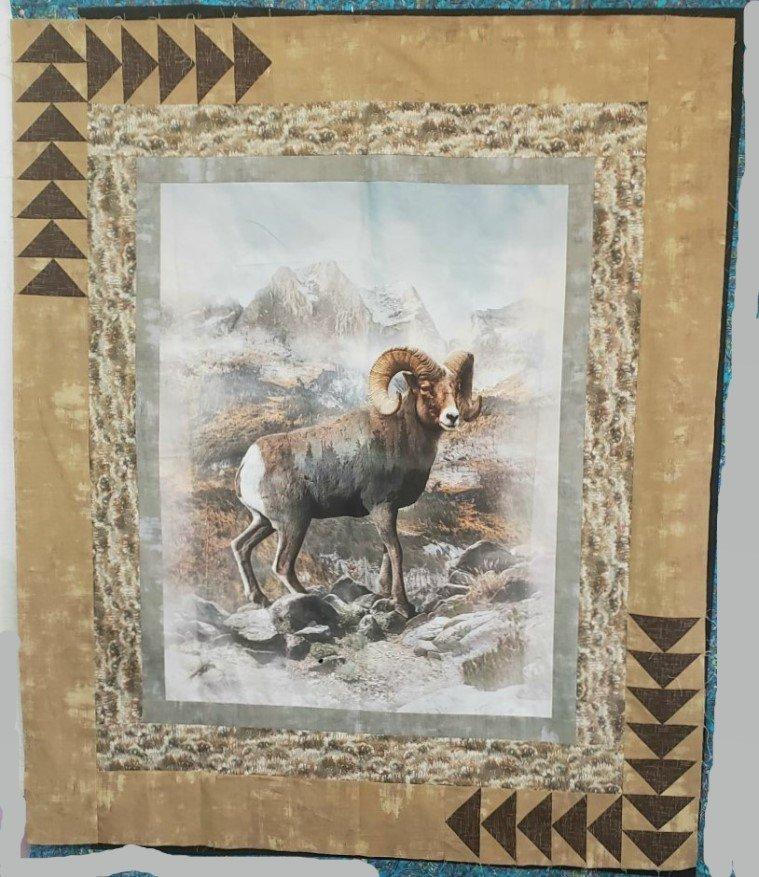 Beach Walk/Villa Rosa - Big Horn Sheep Quilt KIT - 56 x 68