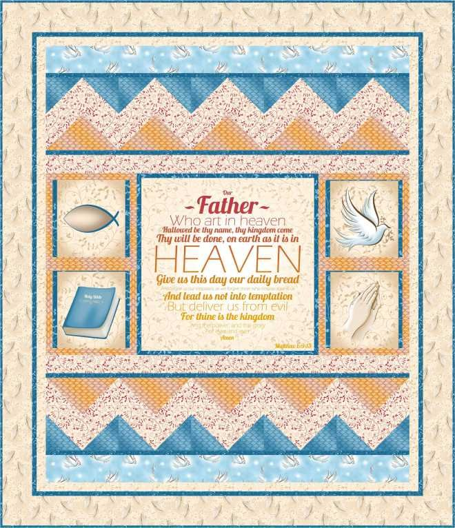 Quilting Treasures-Our Father Lap Quilt-Free