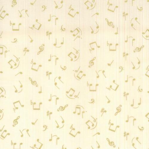 Blank Quilting - Symphony Song - Notes-Cream - M6424