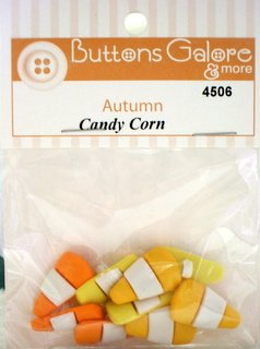 Candy Corn - Buttons Galore - 4506